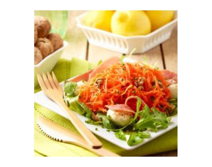 Salade de carottes râpées à l'italienne.