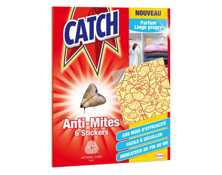 Catch Anti-Mites Parfum Linge Propre - 6 stickers
