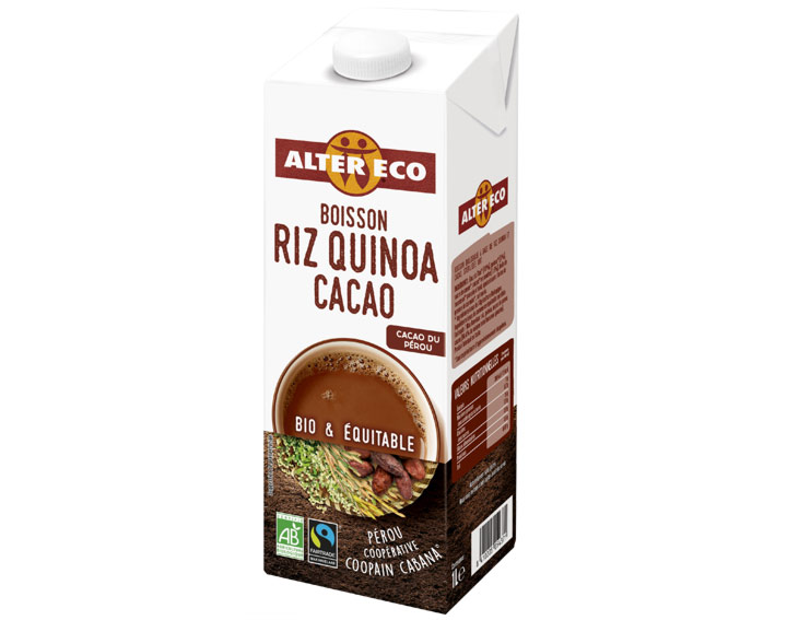Boisson Riz Quinoa Cacao