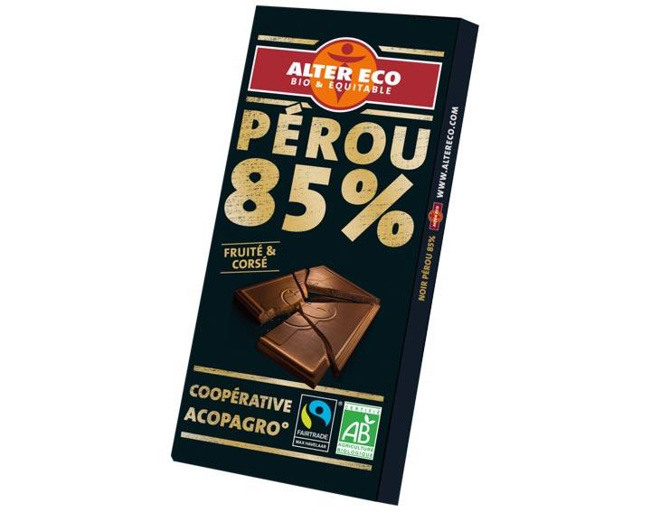 Chocolat Pérou 85%