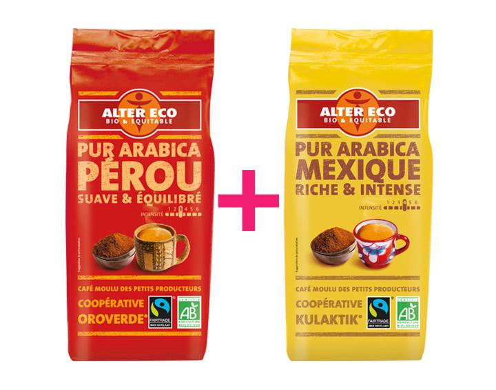 30% remboursés pour l'achat de 2 cafés Alter Eco