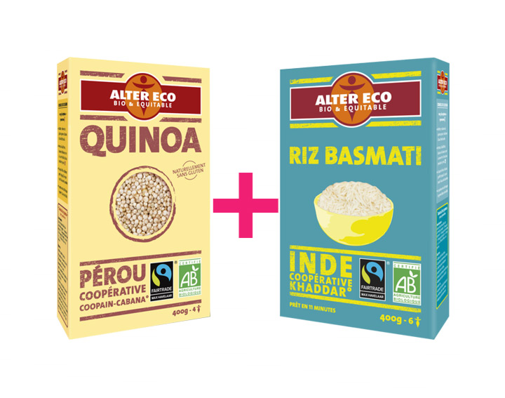 30% remboursés pour l'achat de 2 Riz et Quinoas Alter Eco