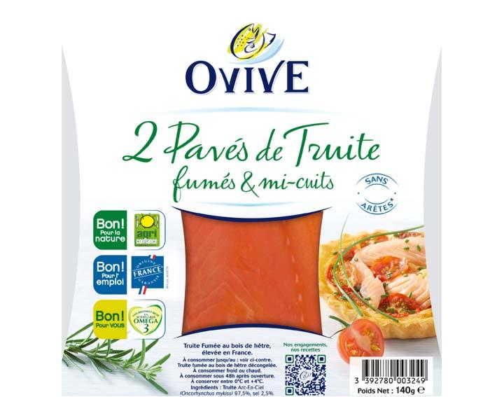 2 pavés de Truite de France Fumée & Mi-cuits