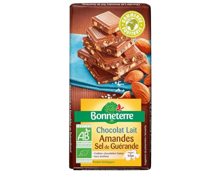 Chocolat au Lait Amandes et Sel de Guérande