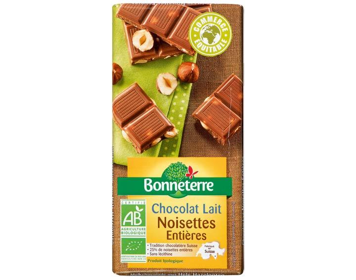 Chocolat Lait Noisettes Entières