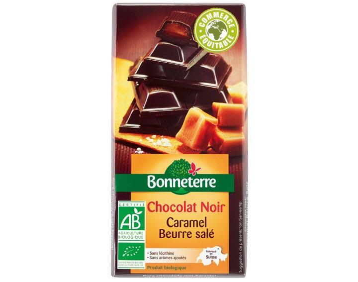 Chocolat Noir Fourré Caramel Beurre Salé