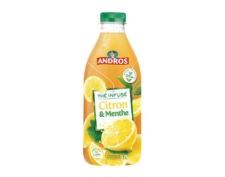 Boisson au thé infusé Citron et Menthe