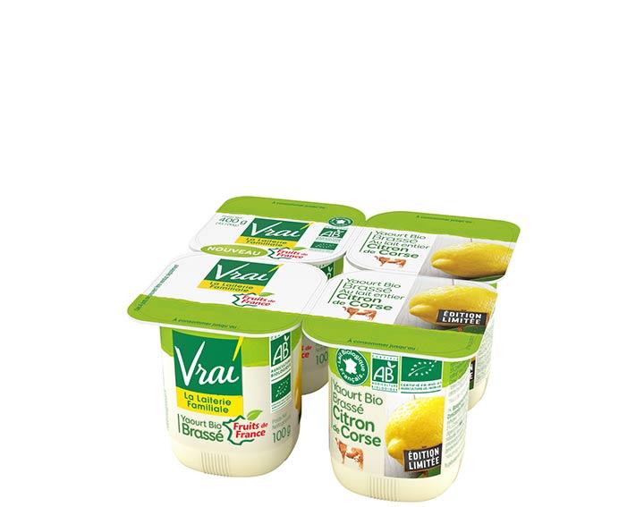Yaourt Bio Brassé au Citron de Corse