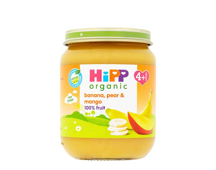 banana, pear & mango jar 125g