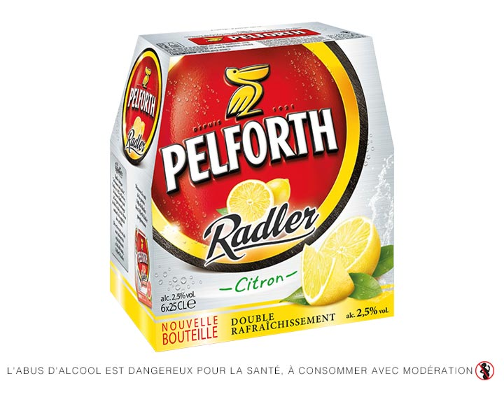 Pelforth Radler 6x25cl - Spécialité à base de bière et de jus de citron 2.5°