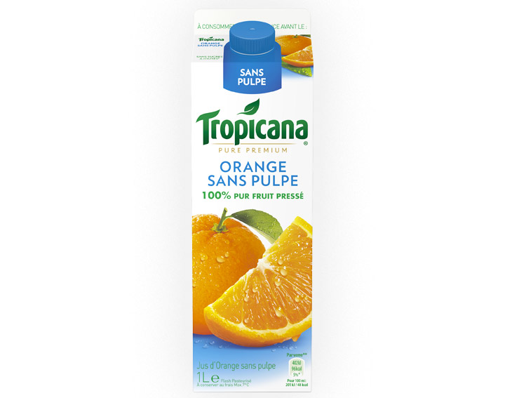 Jus Tropicana Pure Premium Orange sans pulpe 1L