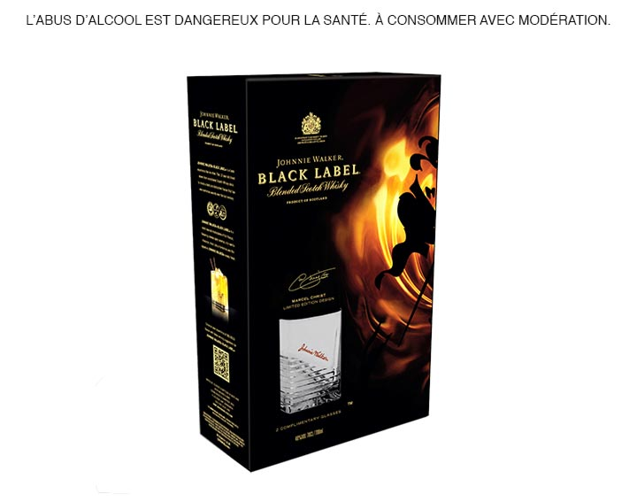 Johnnie Walker Black Label Pack 2 verres