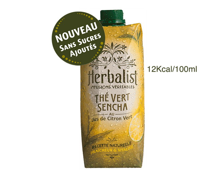 Herbalist Sencha Citron Vert 50cL Sans Sucres Ajoutés ni Edulcorants