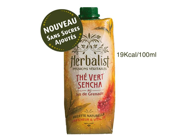 Hebalist Sencha Grenade 50cL Sans Sucres Ajoutés ni Édulcorants