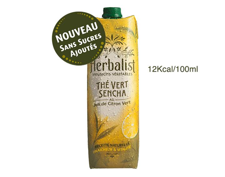 Herbalist Sencha Citron Vert 1L Sans Sucres Ajoutés ni Edulcorants