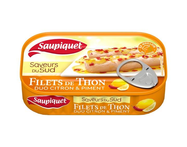 Filets de Thon Saveurs du Sud Duo Citron & Piment