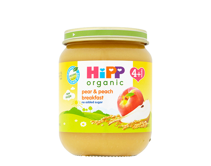 pear & peach breakfast jar 125g