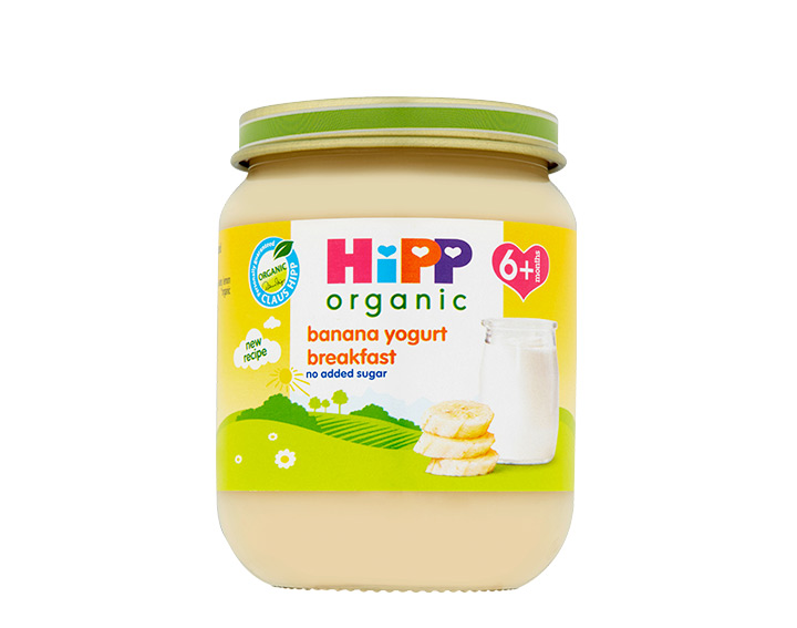 banana yogurt breakfast jar 125g