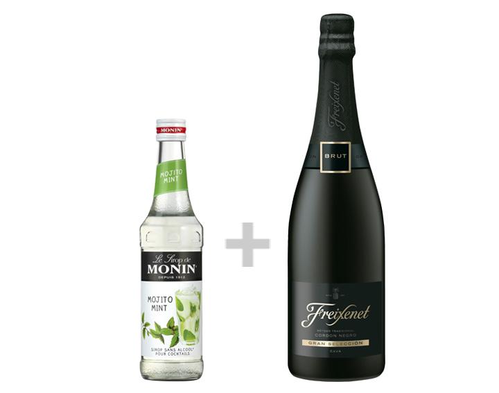 Sirop de Mojito Mint MONIN 33cl ET vin pétillant Freixenet Cordon Negro 75cl