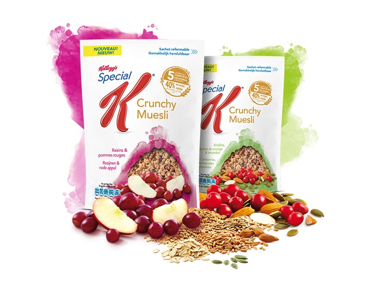 Special K Crunchy Muesli Raisins et Pommes rouges - Special K Crunchy Muesli Airelles, Graines de courge et Amandes