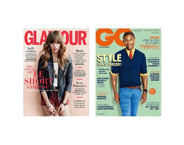Abonnement Glamour + GQ  1 an – 24 numéros