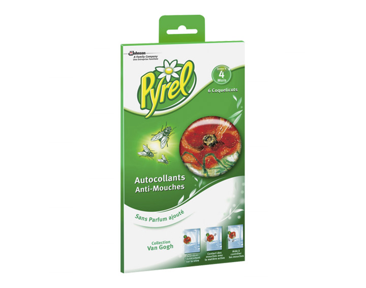 Pyrel® Stickers Coquelicot : Simple, Efficace, Sans insecticide ni odeur