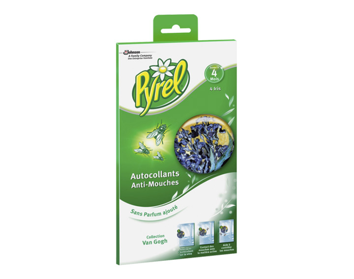 Pyrel® Stickers Iris : Simple, Efficace, Sans insecticide ni odeur