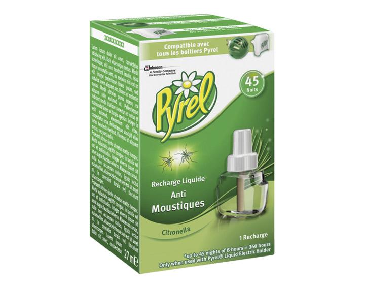 Pyrel® Recharge Liquide 45 Nuits Citronnelle