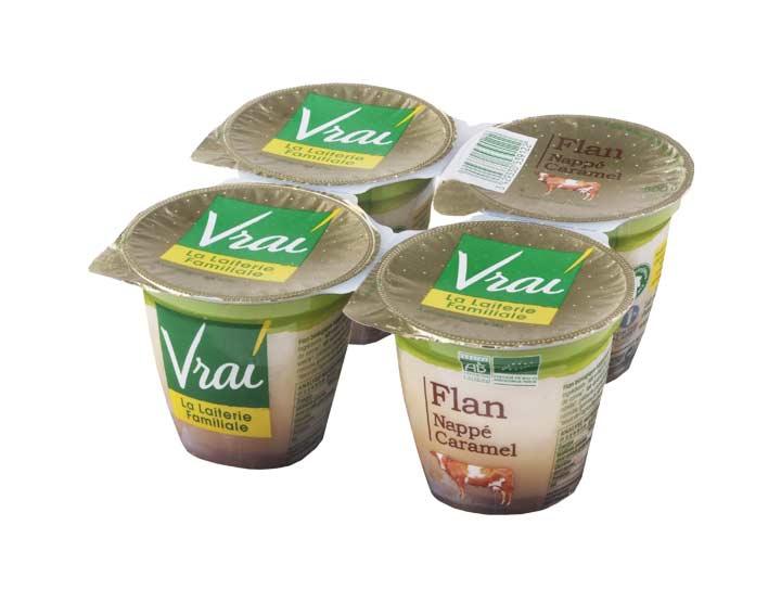 Flan Bio Vanille nappé caramel 4x125g