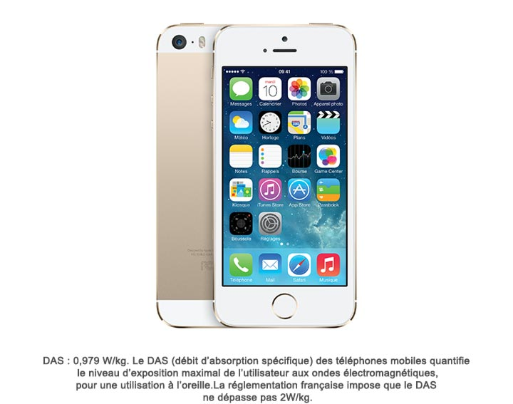 iPhone 5s 16Go, 32Go ou 64Go