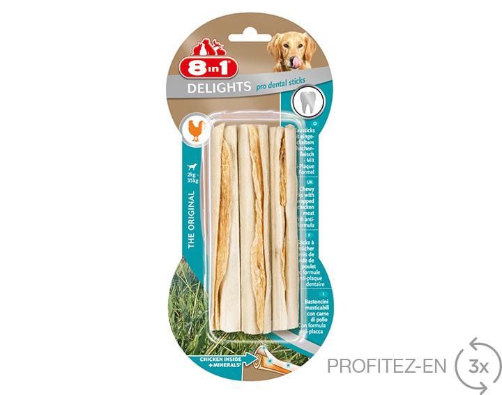 8in1 Delights pro dental sticks x3