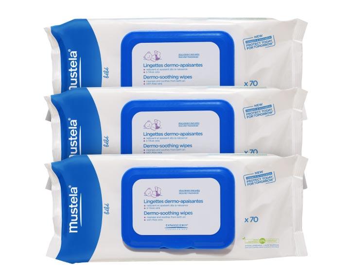 Lingettes dermo-apaisantes Mustela Bébé - paquet de 70