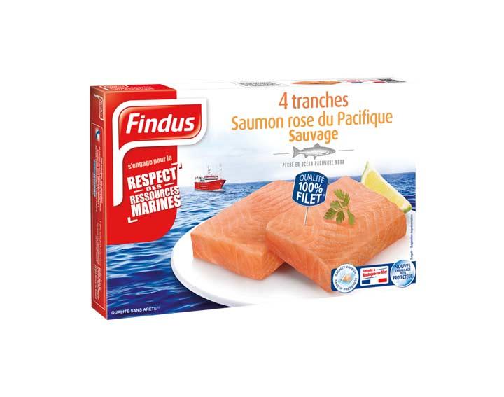 Tranches de Saumon rose du Pacifique Sauvage