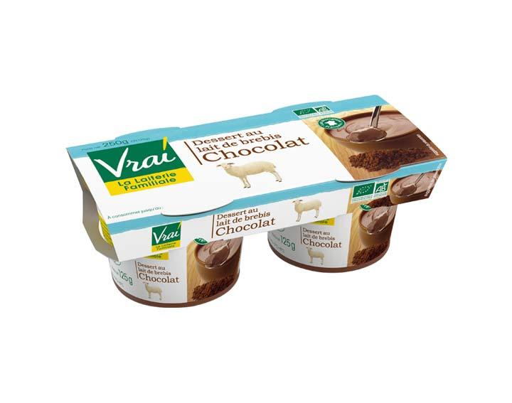 Dessert Bio au lait de brebis Chocolat 2x125g