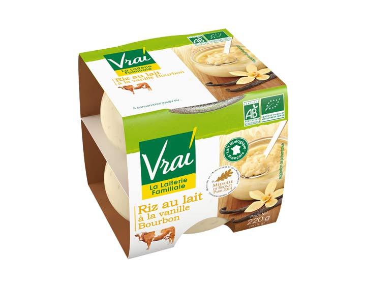 Riz au lait bio à la Vanille Bourbon 2x110g
