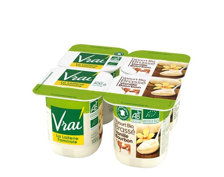 Yaourt Bio Brassé Vanille Bourbon 4x100g