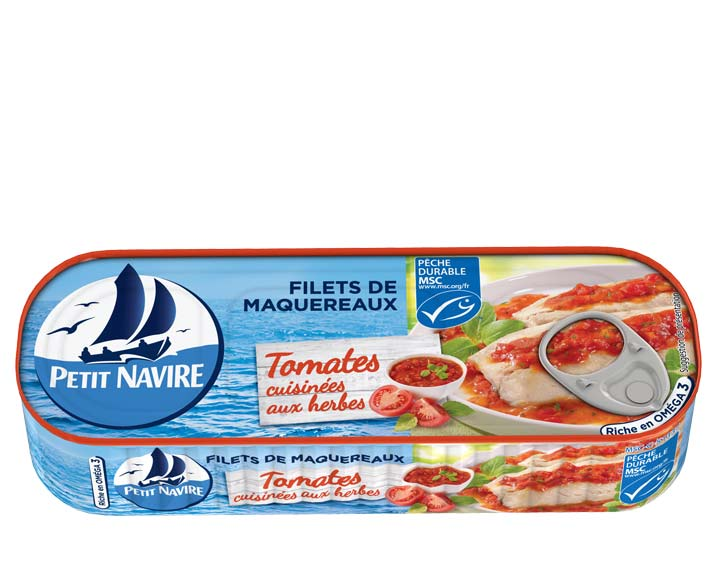 Filets de Maquereaux Tomates cuisinées aux herbes MSC