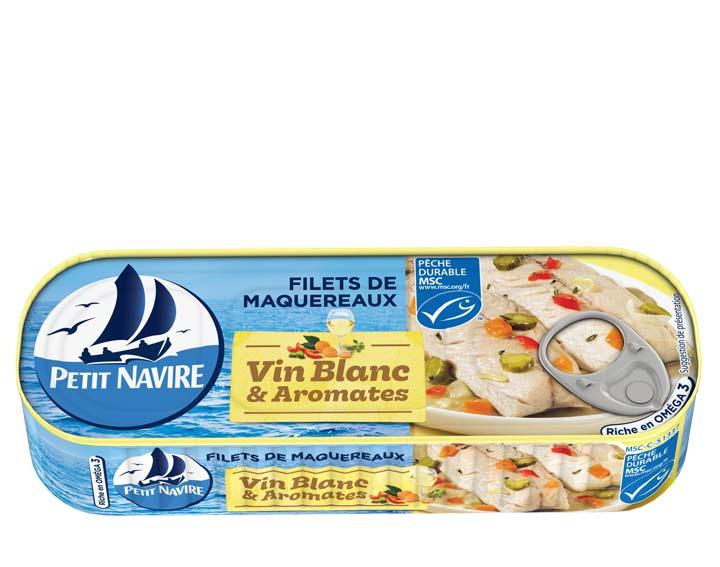 Filets de Maquereaux Vin Blanc & Aromates MSC