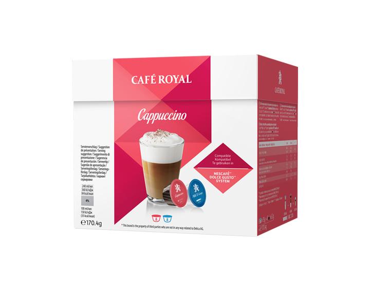Capsules Cappuccino compatibles avec Nescafé®* Dolce Gusto®*