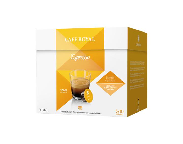 Capsules Espresso compatibles avec Nescafé®* Dolce Gusto®*