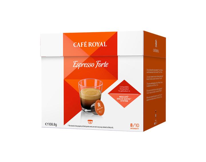 Capsules Espresso Forte compatibles avec Nescafé®* Dolce Gusto®*