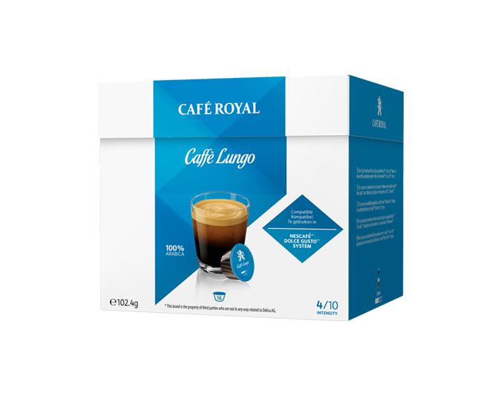 Capsules Caffè Lungo compatibles avec Nescafé®* Dolce Gusto®*