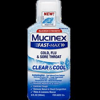 Maximum Strength Mucinex® Fast-Max® Clear & Cool Cold, Flu & Sore Throat