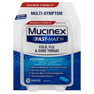 Maximum Strength Mucinex® Fast-Max® Cold, Flu & Sore Throat Caplets