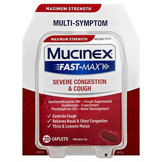 Maximum Strength Mucinex® Fast-Max® Severe Congestion & Cough Caplets