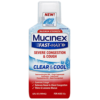Maximum Strength Mucinex® Fast-Max® Clear & Cool, Severe Congestion & Cough