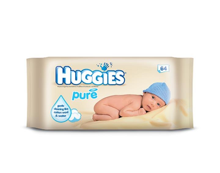 Huggies® Pure – sans parfum, conçu pour les peaux sensibles