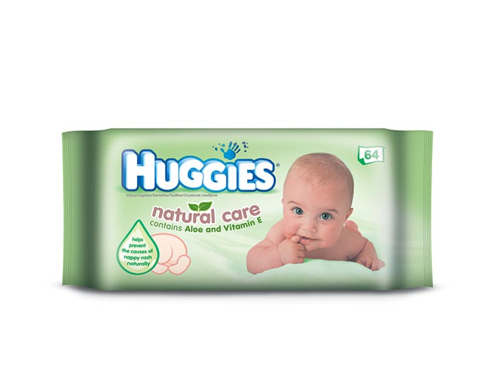 Huggies® Natural Care – enrichi à l'Aloe Vera et à la Vitamine E