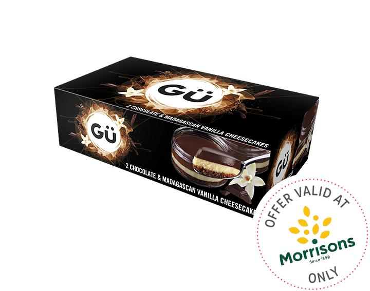 Chocolate & Vanilla Cheesecakes 2x78g