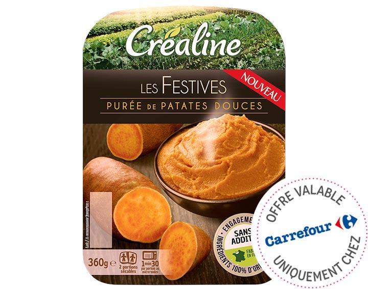 Purée de patates douces Créaline
